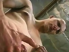 Shemale Gets Jerked Off On
