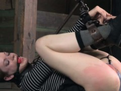 Tied Up Ball Gagged Bdsm Babe Flogged