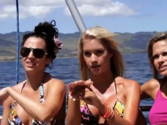 Hot Busty Babes Demolition Derby And Swimming In Shark Cage