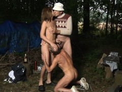 Homeless Oldmen Fucks Teeny In Threesome