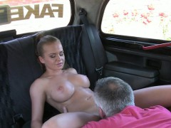 Pretty Amateur With Big Boobs Tricked By Fraud Driver