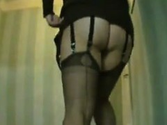 wearing-stockings-at-a-hotel