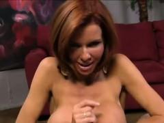 Pov Redhead Busty Hooker Giving Amazing Handjob And Blowjob