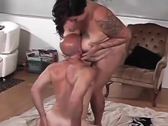 Submissive Guy Fucked By His Fat Wife