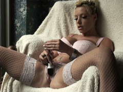 MILF with Big Tits Masturbates to Two Pussy Pulsing Orgasms