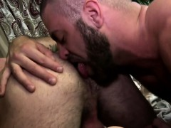 Hairy Bear Rimjob And Cum