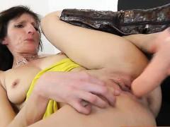 Attractive Brunette Babes Vagina Gets Filled Up