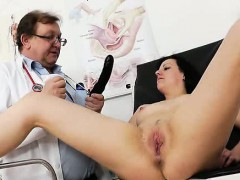 Lyde Takes A Stick In Her Ass With A Aroused Smile On Her