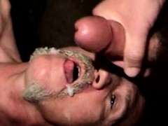 Bluecollar mature gets cum in his mo