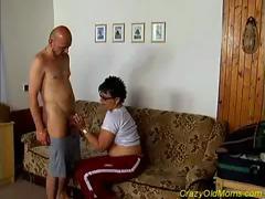 Nasty Old Mom Gets Fucked Hard