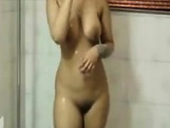 Cute Indian Washes Her Beautiful Body