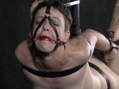 Gagged Sub Hogtied And Fingered Deeply
