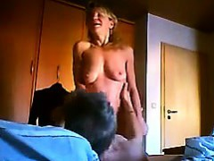 Cute Granny Riding On Some Hard Dick