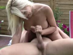 Sexy German Milf Fuck Young Boy Outdoor