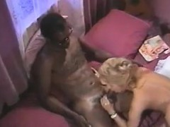Blonde Nailed By Black Guys In A Threesome