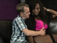 Huge Juggs Ebony Shemale Chanel Couture Bangs Horny Dude
