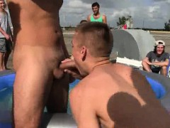 Frat Boy Hunk Sucking On A Hard Cock Outdoors