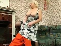 Blonde Granny Enjoying Some Hard Cock
