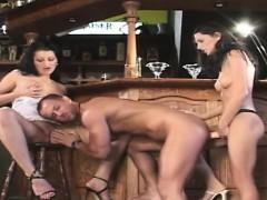 Busty Wife Sucking Huge Cock