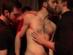 Bukkake Loving Jocks In The Club Sucking Cock