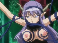 Caught anime gets squeezed her bigtits and ass drilled by te