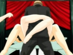 Two Hentai Girls Gets Fucked In Front Of Crowd