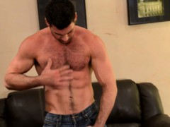 Mature Muscle Billy Santoro Jerks Thick Meat