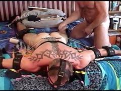 Muscular Dude Is Bound And Face Down While I Pound His