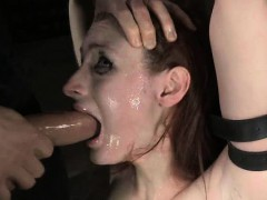 Bound Teen Brutally Throatboarded!