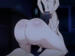 Roped Japanese anime bigboobs dildoed wet pussy