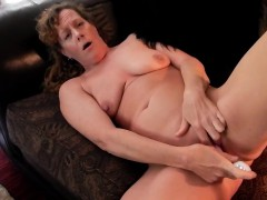 Couch solo and super orgasm Granny Vanessa