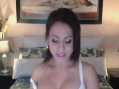Beautiful Busty Asian Displays Huge Tits And Cock