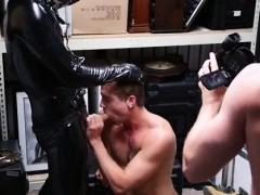Gay Sucks And Swallows Straight Black Semen Guy Cums In Publ