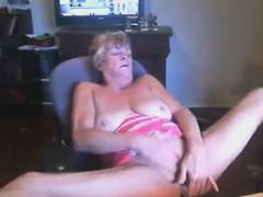 Horny Grandma Masturbating