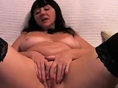 Large Mature Woman Masturbating