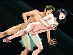 Japanese anime sucking stiff dick and wetpussy poking