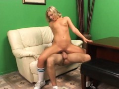 Tight Teen Stretched By Pervy Park Ranger!