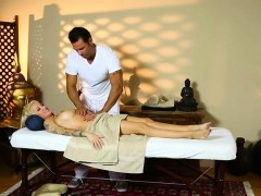 Amazing Beauties On Special Massage Bed