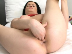 Thick Beauty Marryann Fucking Two Big Brutal Dildos