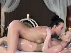 Lesbians Rubbing Pussies On Massage