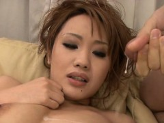 Dirty Hotty In Lingerie Loves Eating Cum From Two Dicks