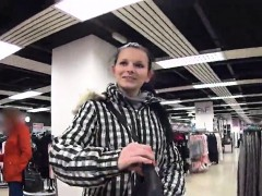 Breathtaking Czech Cutie Was Tempted In The Mall And Nailed