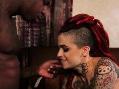 Punk Tattooed Leigh Raven Pounded By Big Black Cock