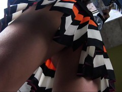 Simple Missing Back And Teen Upskirt Entrance