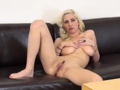 Buxom Blonde Nympho Shay Laren Expresses Her Passion For Masturbation