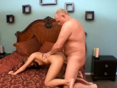 Playful Young Blonde With A Sexy Ass Goes Wild For An Old Man's Dick