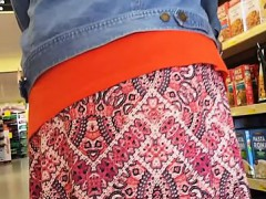 good-looking-older-woman-reveals-her-hot-panties-while-shop