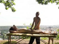 Sexy Dude Thomas Fiaty Wants To Try Masseurs Cock Outdoor