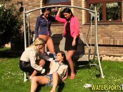 Kinky Lesbians Urinating