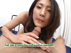 Risa Is A Cute Asian Chick Who Enjoys Sucking Cock
